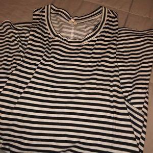 Roxy Dresses - black and white striped dress scoop neck